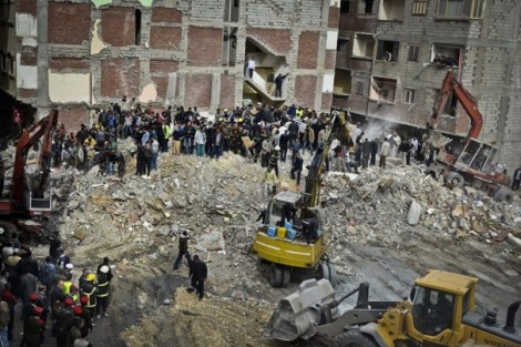 Building collapse, Alexandria, Egypt