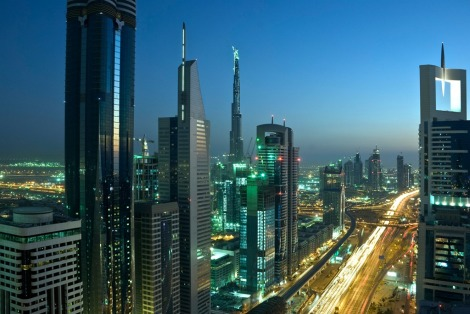 Dubai-skyline-at-night